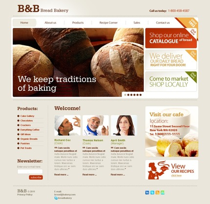ADOBE Photoshop Template 56484 Home Page Screenshot