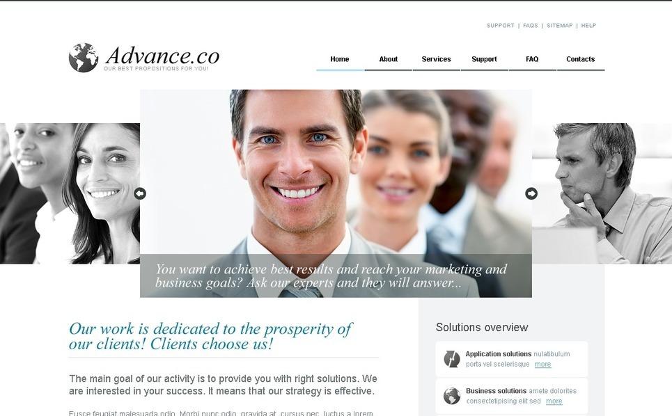 Plantilla PSD #56485 para Sitio de Negocio y Servicios New Screenshots BIG