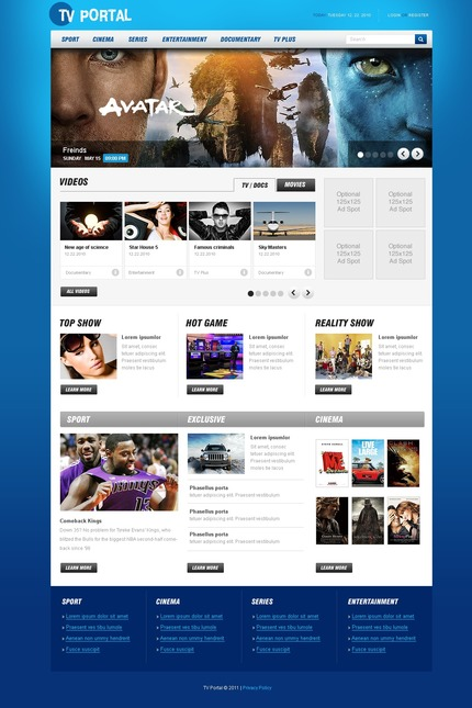 ADOBE Photoshop Template 56486 Home Page Screenshot