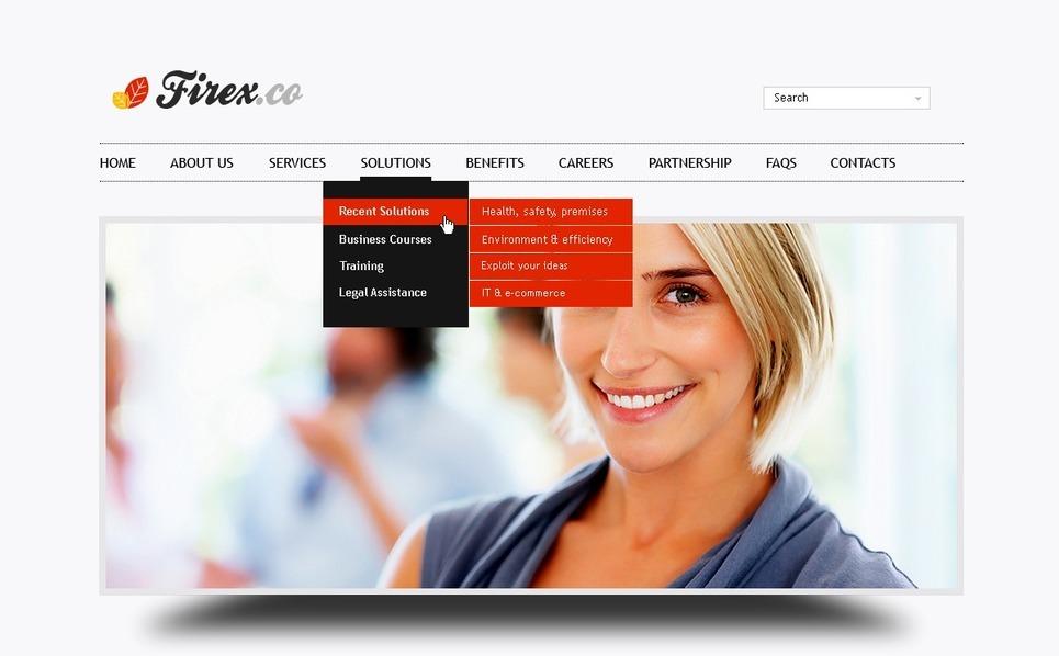 Template PSD  #56491 per Un Sito di Business e Servizi New Screenshots BIG