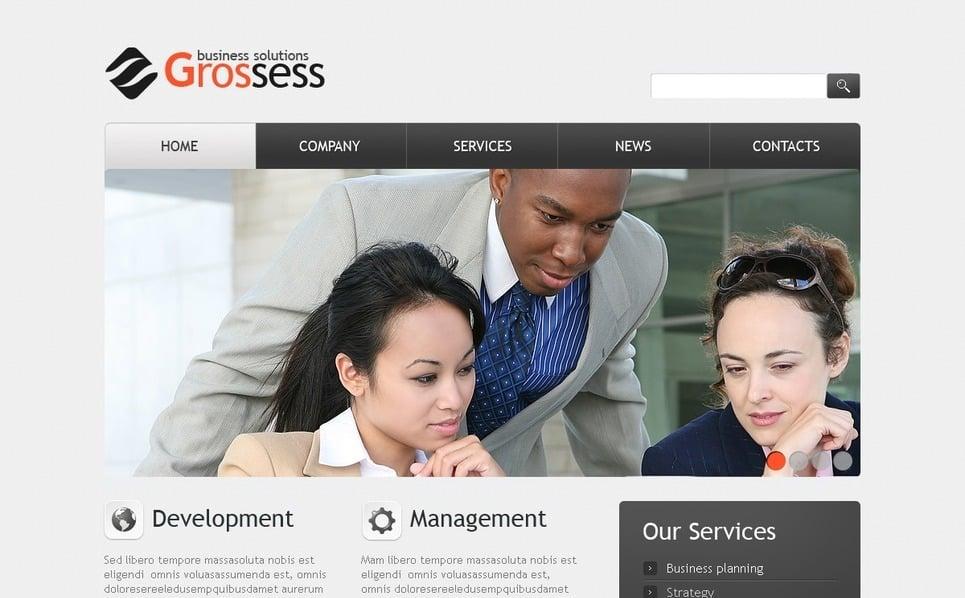 Szablon PSD #56493 na temat: biznes i usługi New Screenshots BIG