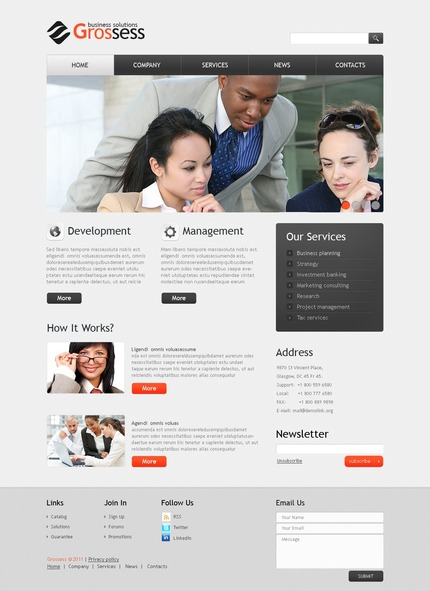 ADOBE Photoshop Template 56493 Home Page Screenshot
