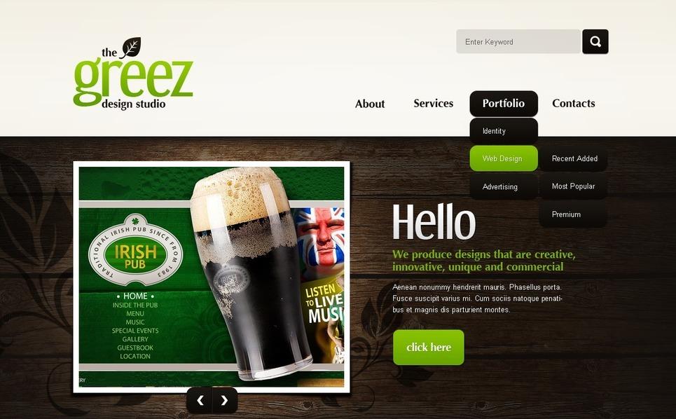 Szablon PSD #56494 na temat: web design New Screenshots BIG