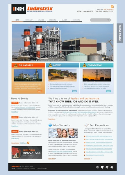 PSD макет сайта №56495