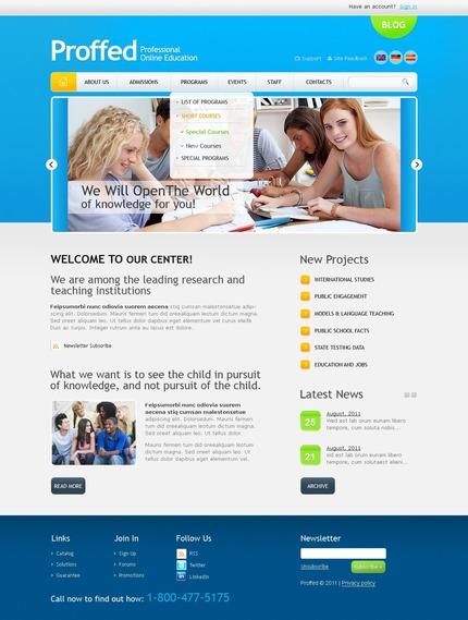 PSD макет сайта №56496