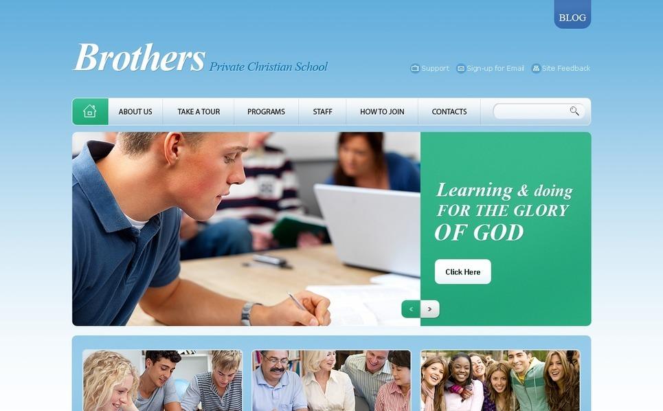 PSD шаблон на тему релігіозна школа New Screenshots BIG