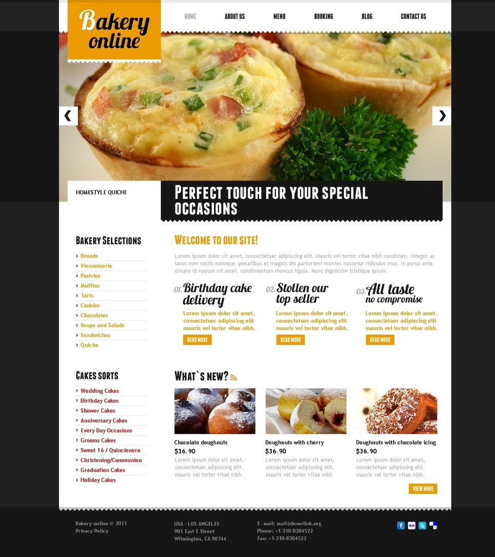 Bakery PSD Template New Screenshots BIG