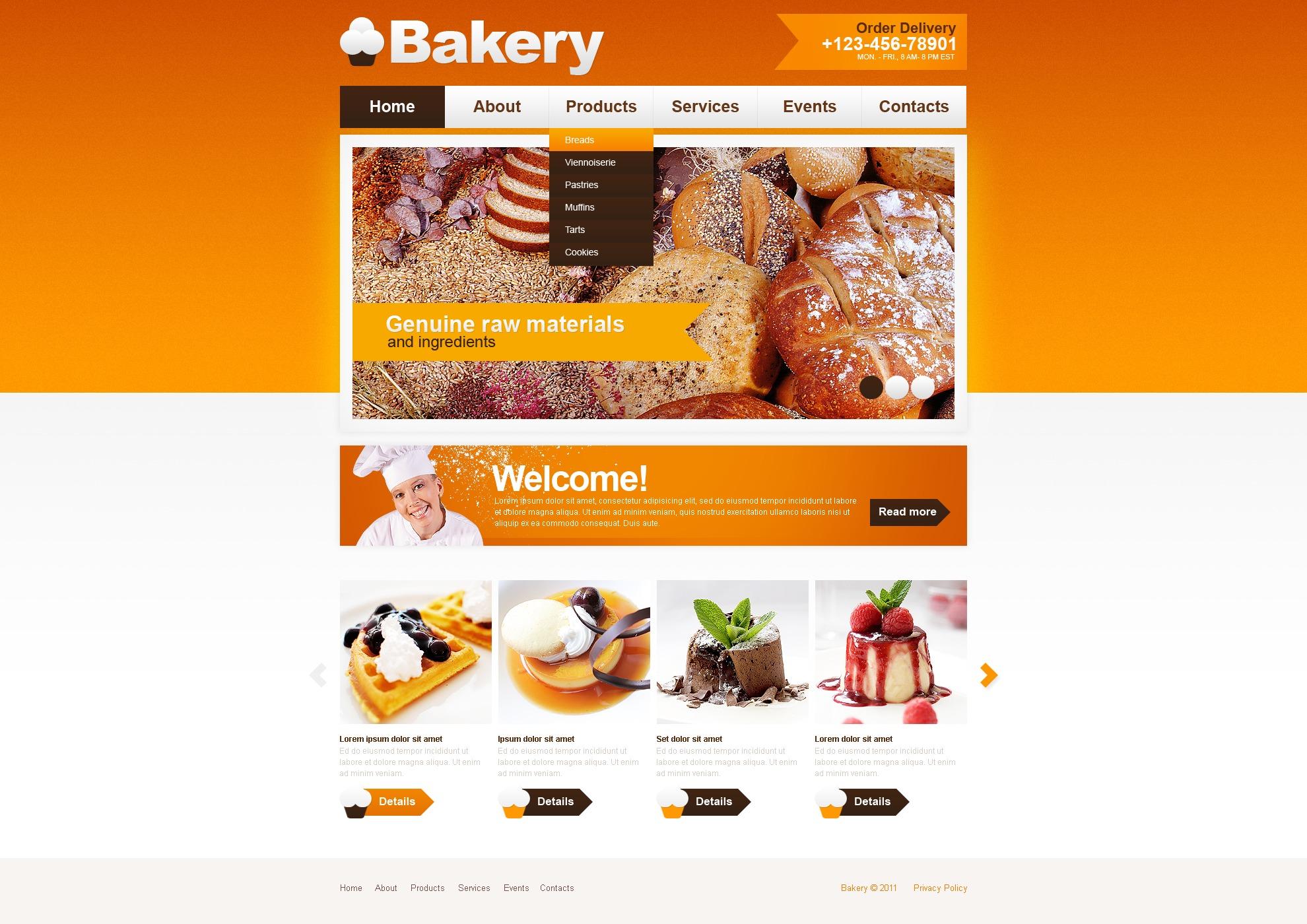 Bakery PSD Template