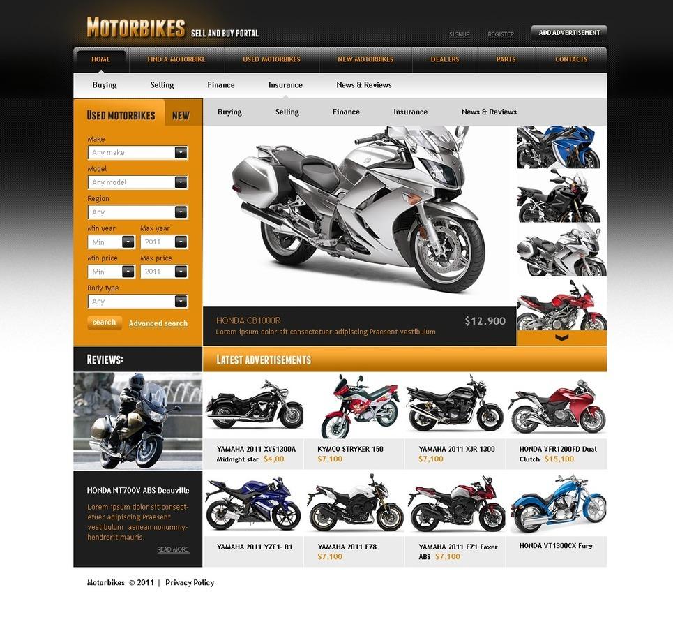 Bike Shop PSD Template New Screenshots BIG