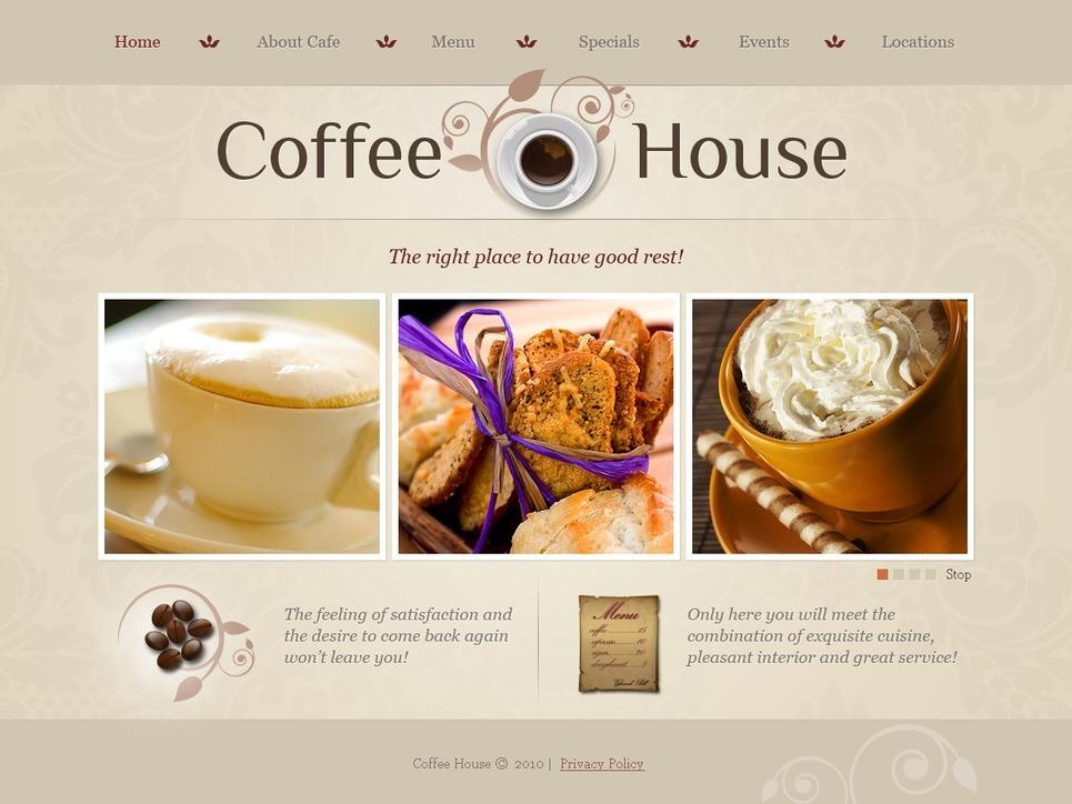 Coffee Shop PSD Template New Screenshots BIG