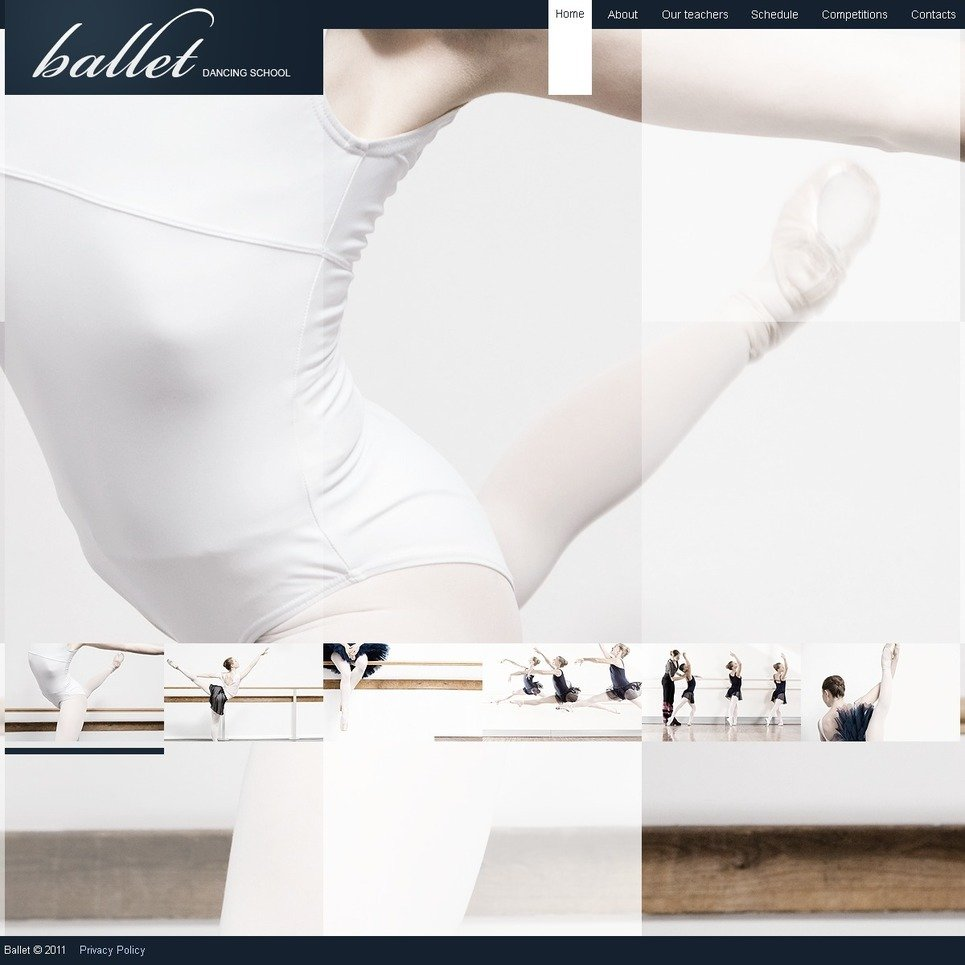 Dance Studio PSD Template New Screenshots BIG