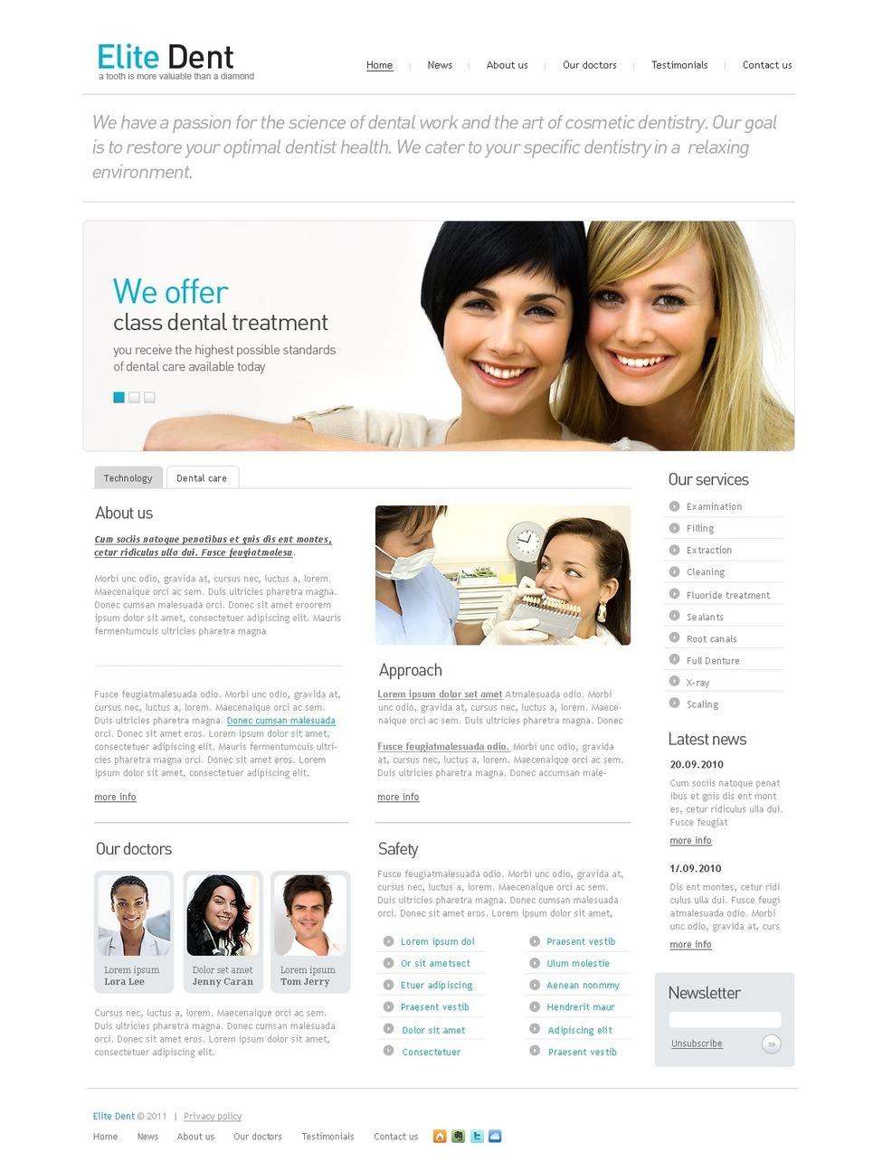 Dentistry PSD Template New Screenshots BIG
