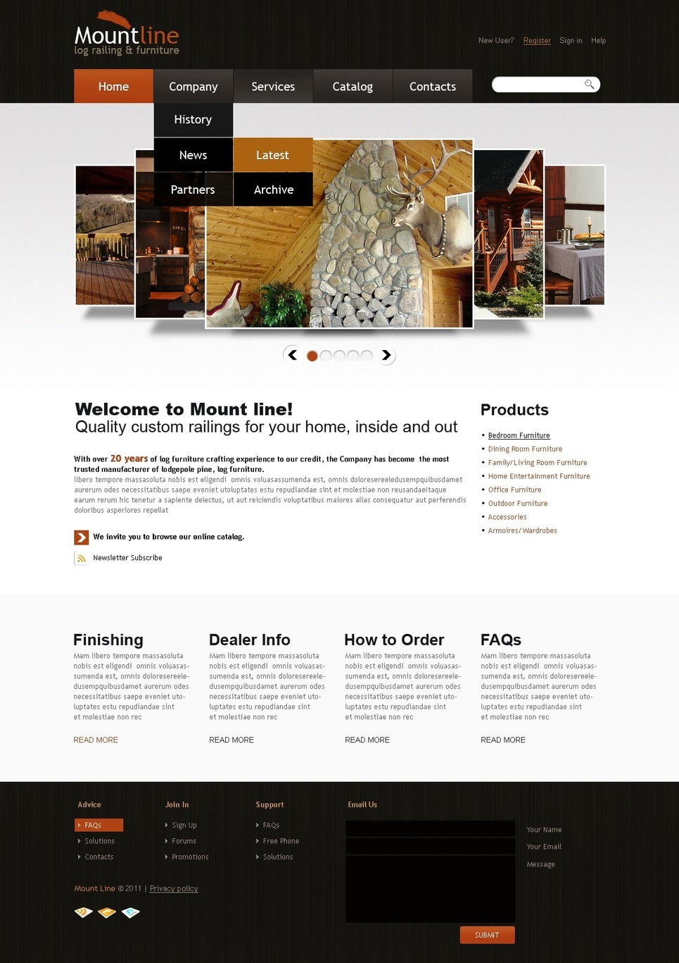 Furniture PSD Template New Screenshots BIG