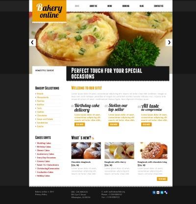 Plantilla PSD para Sitio de Panaderías #56405