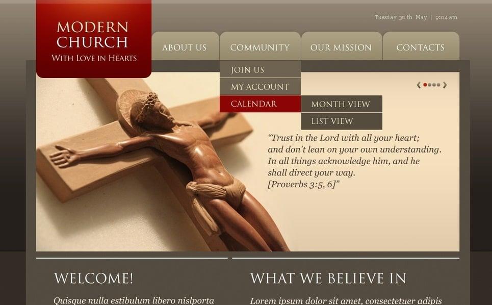 PSD шаблон №56473 на тему христианство New Screenshots BIG