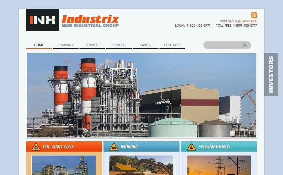 PSD шаблон №56495 на тему промышленность New Screenshots BIG