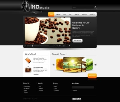 Template Photoshop  №56414 para Sites de Galeria de Videos