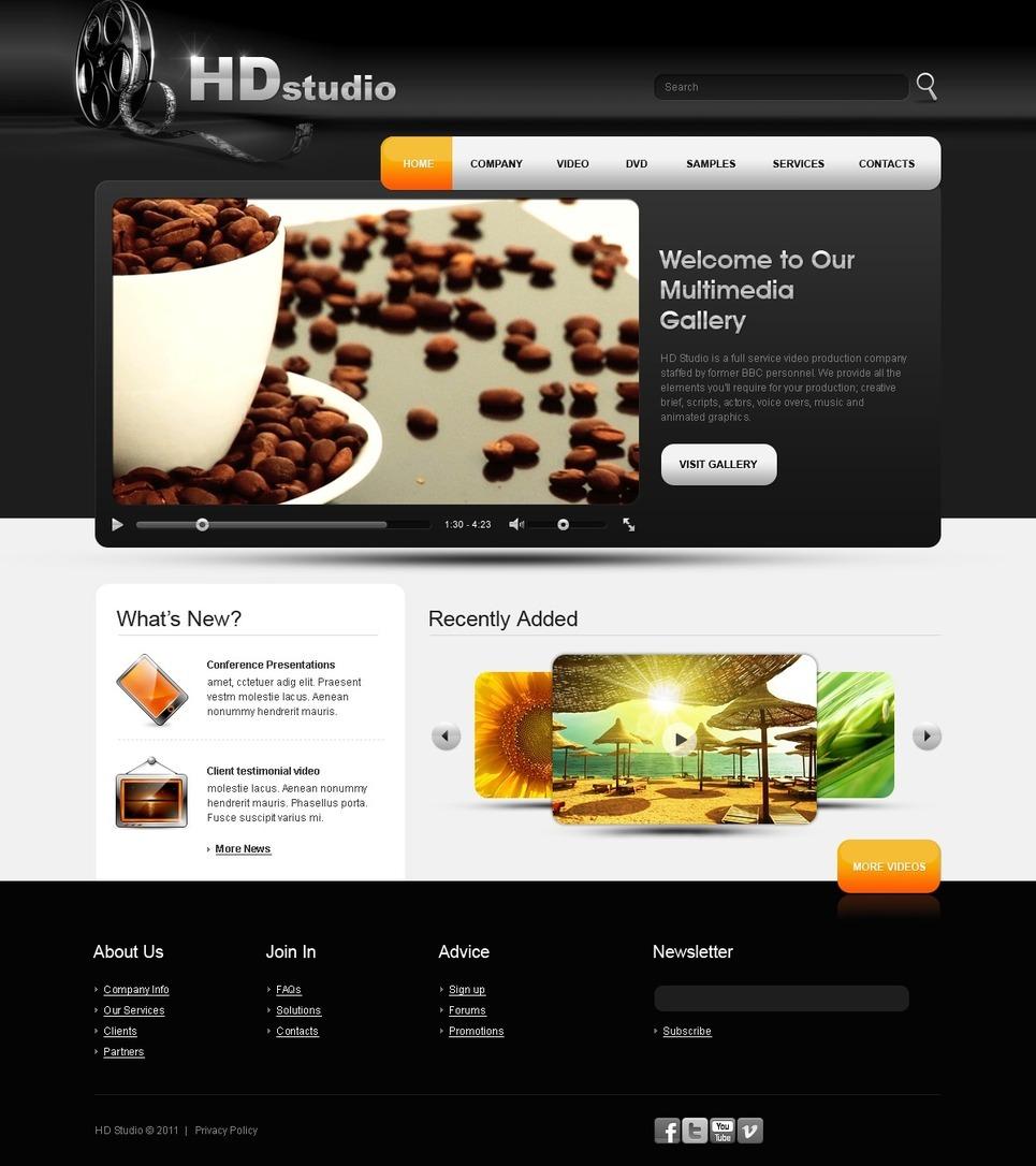 Video Gallery PSD Template New Screenshots BIG