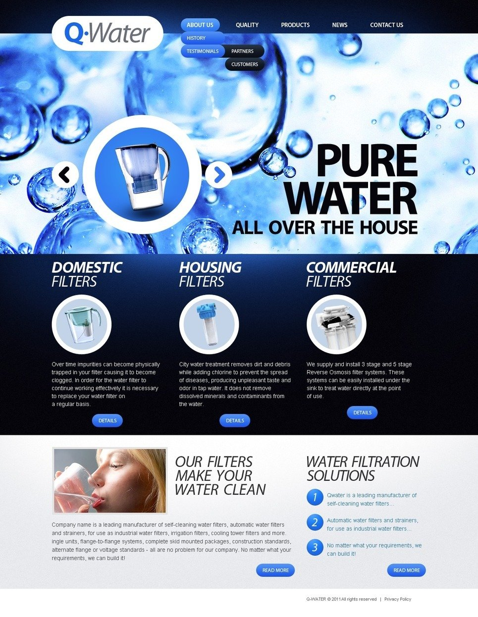 Water PSD Template New Screenshots BIG
