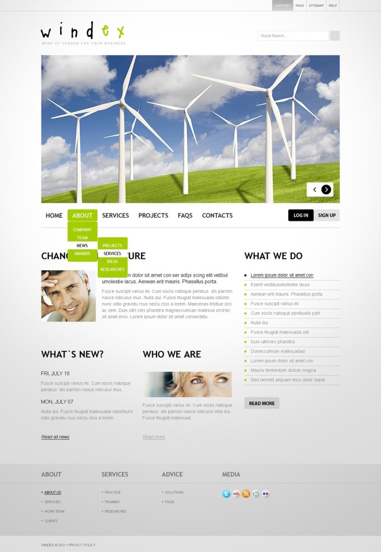 Wind Energy PSD Template New Screenshots BIG