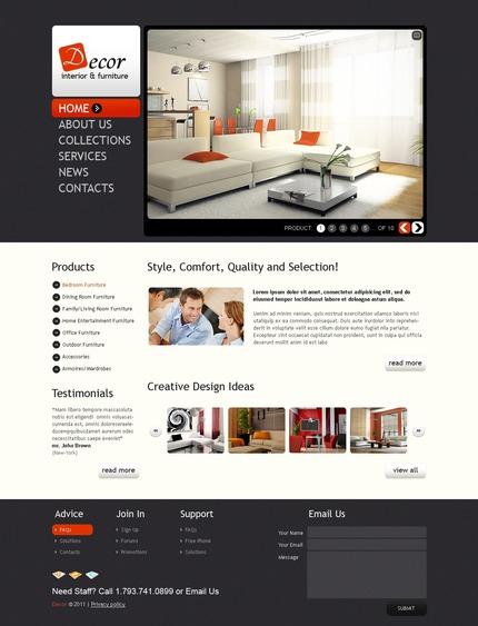 PSD макет сайта №56501