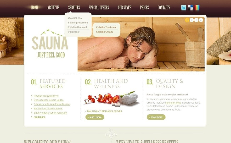 PSD Template over Sauna  New Screenshots BIG