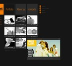 Web design PSD  Template 56507