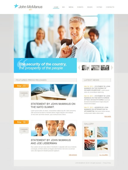 ADOBE Photoshop Template 56511 Home Page Screenshot