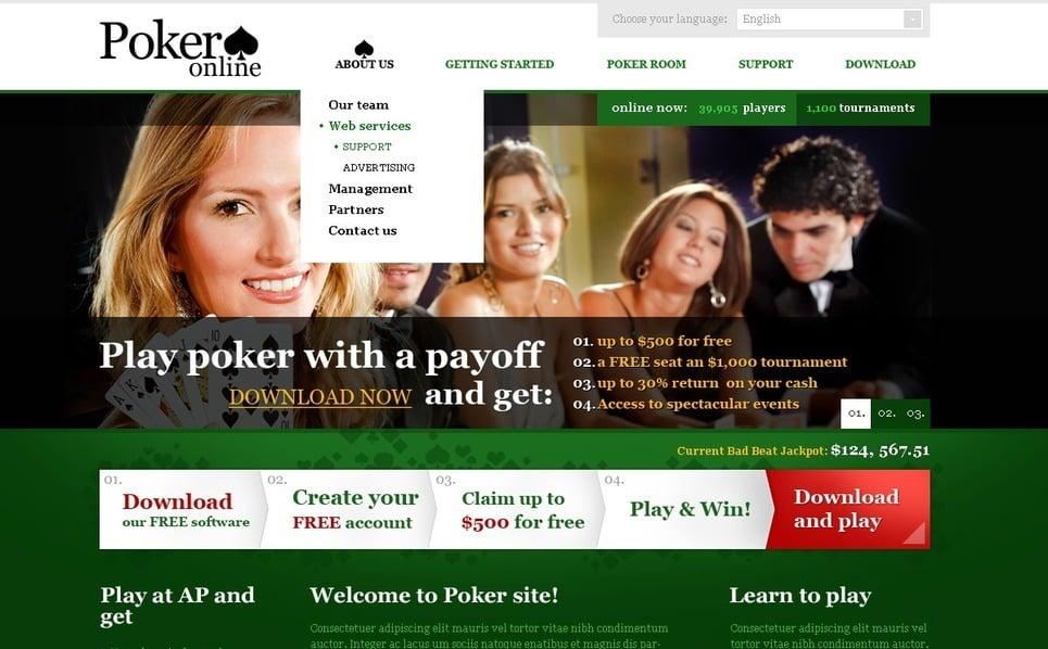 Çevrimiçi Poker  Psd Şablon New Screenshots BIG