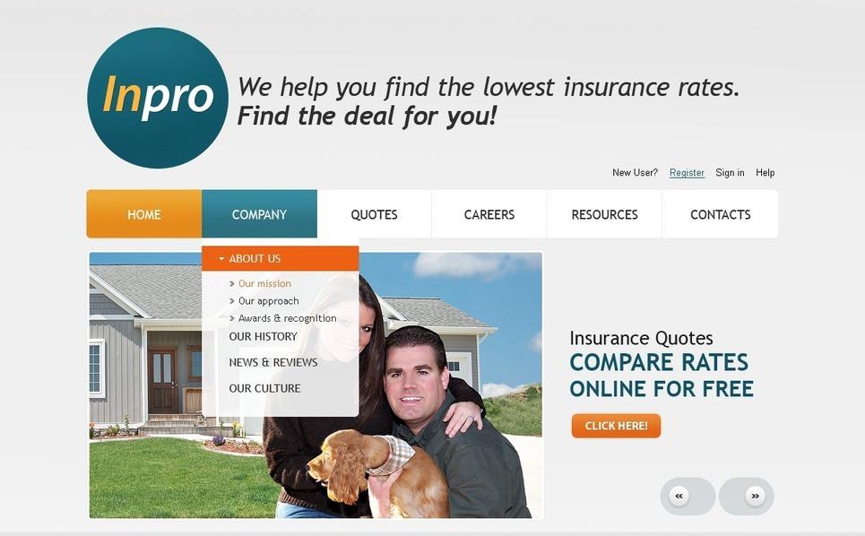 Template PSD  #56518 per Un Sito di Assicurazione New Screenshots BIG