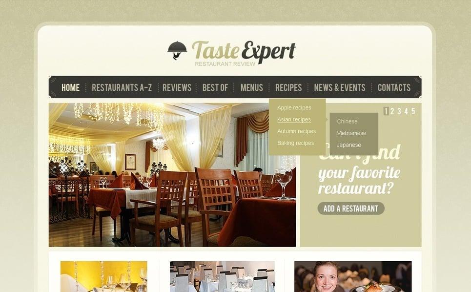 PSD шаблон на тему ресторанні критики  New Screenshots BIG