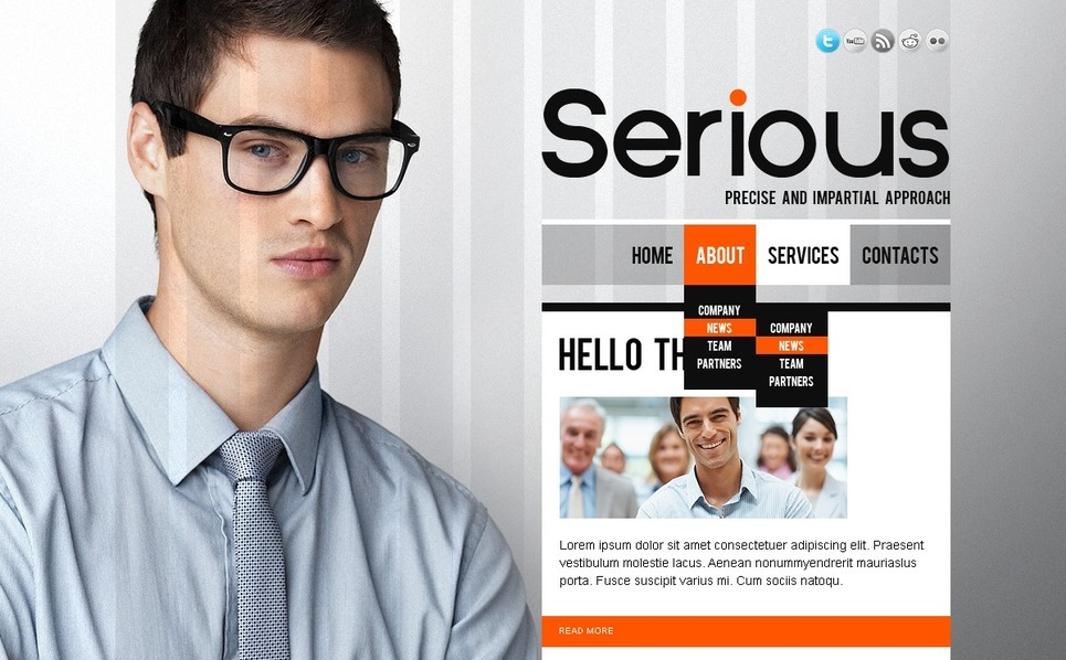 Szablon PSD #56528 na temat: biznes i usługi New Screenshots BIG