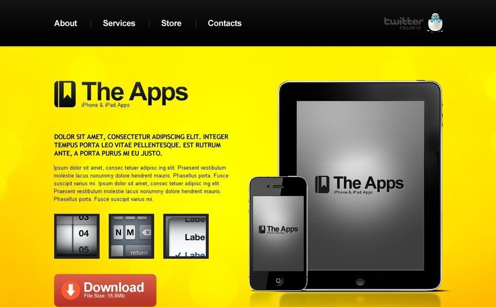 Yazılım Mağazası  Psd Şablon New Screenshots BIG