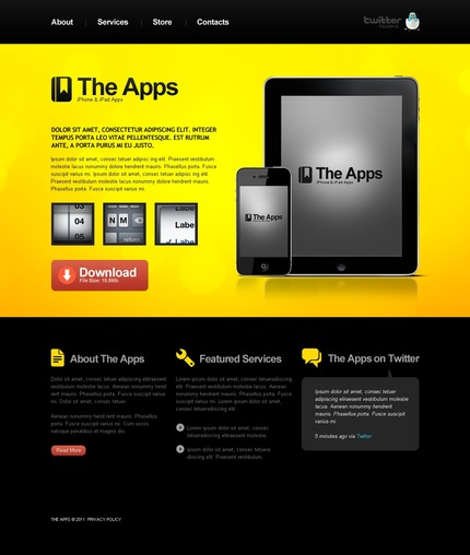 ADOBE Photoshop Template 56539 Home Page Screenshot