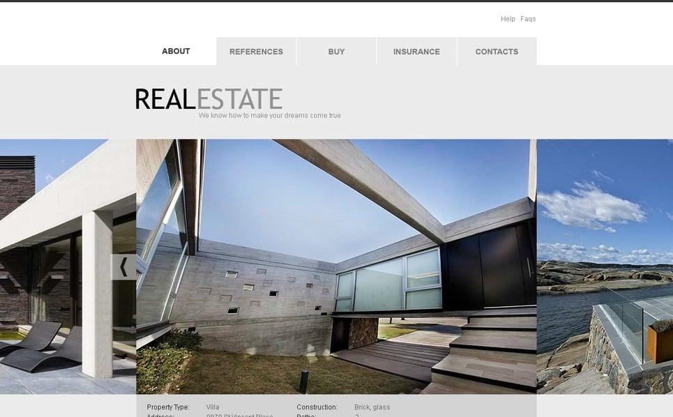 Szablon PSD #56547 na temat: nieruchomość New Screenshots BIG