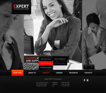 ADOBE Photoshop Template 56554 Home Page Screenshot