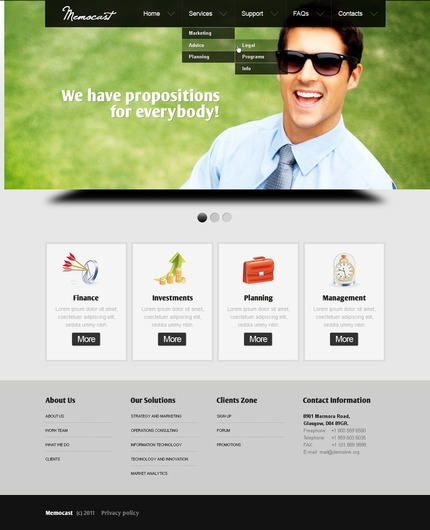 ADOBE Photoshop Template 56556 Home Page Screenshot