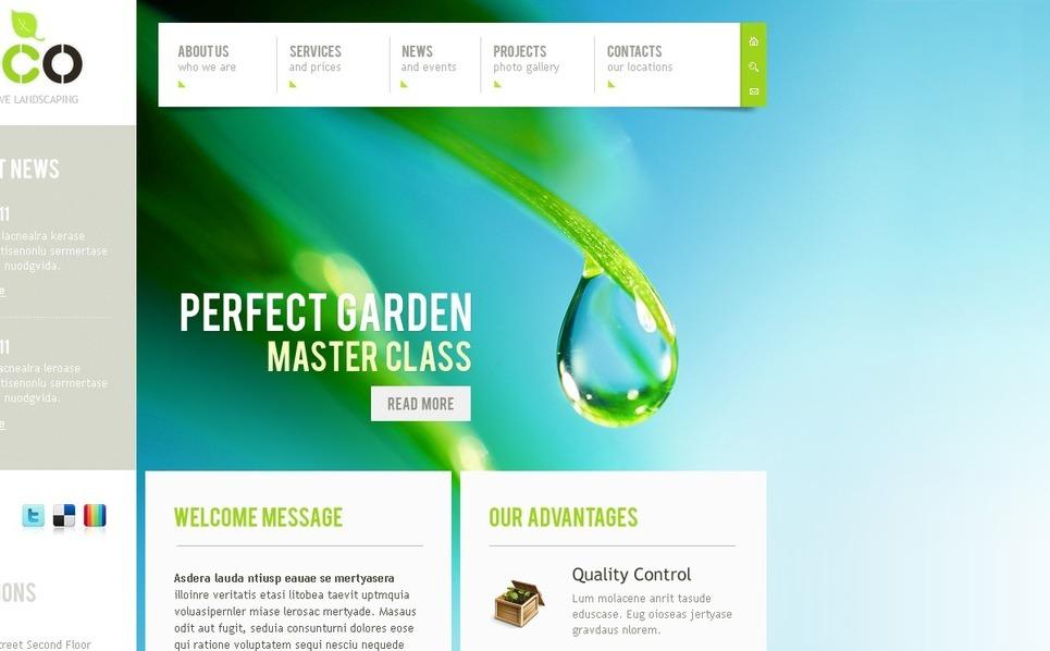 Plantilla PSD #56560 para Sitio de Diseño de paisaje New Screenshots BIG