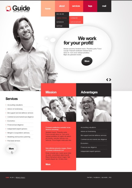 ADOBE Photoshop Template 56563 Home Page Screenshot