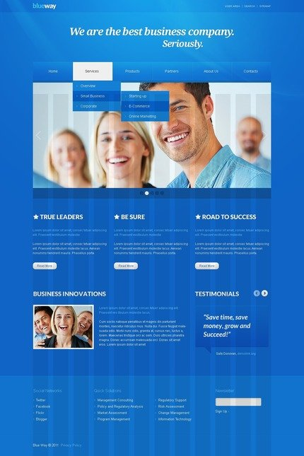 ADOBE Photoshop Template 56567 Home Page Screenshot