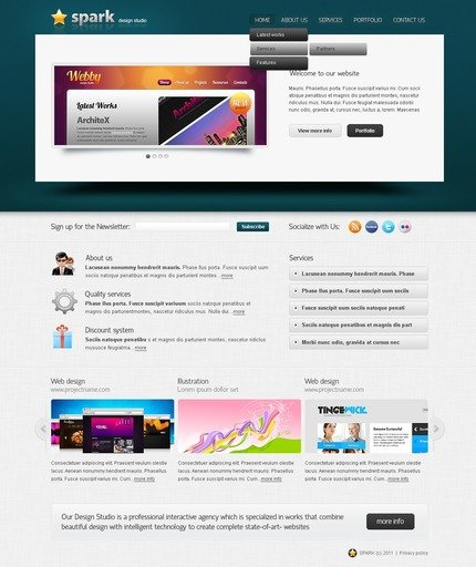ADOBE Photoshop Template 56569 Home Page Screenshot