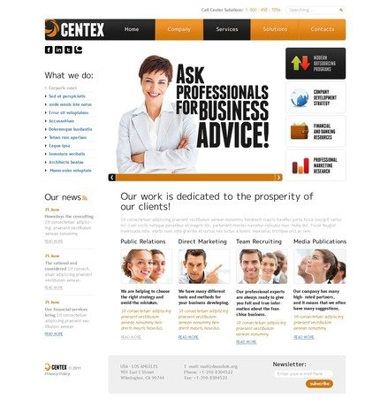 ADOBE Photoshop Template 56571 Home Page Screenshot