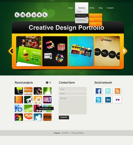 ADOBE Photoshop Template 56574 Home Page Screenshot
