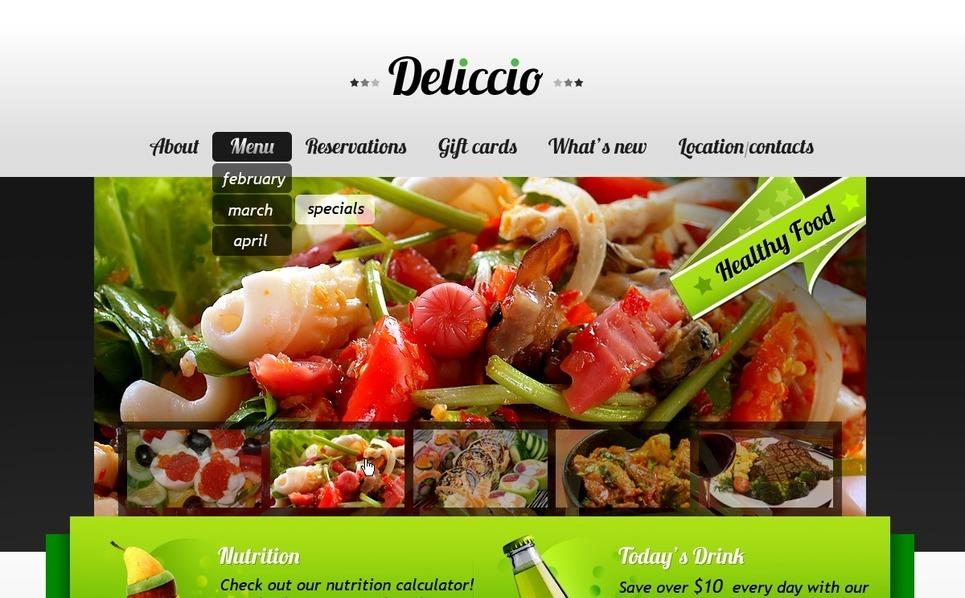咖啡厅与餐厅网站PSD模板 New Screenshots BIG