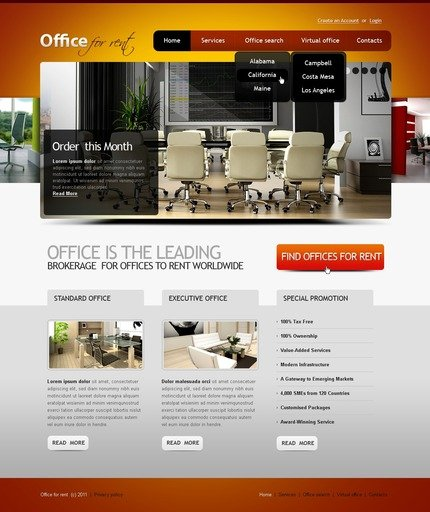 ADOBE Photoshop Template 56577 Home Page Screenshot
