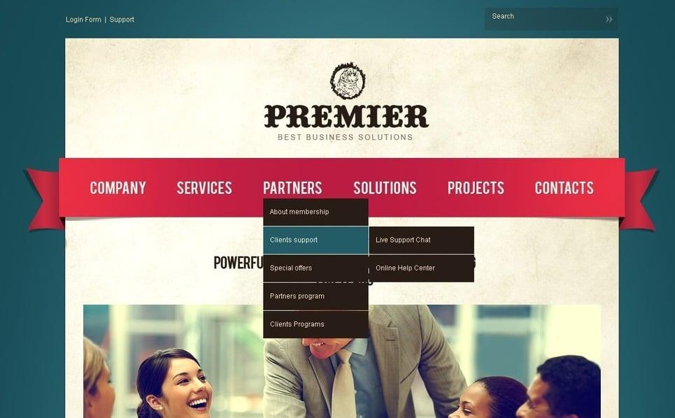 PSD шаблон №56578 на тему бизнес и услуги New Screenshots BIG
