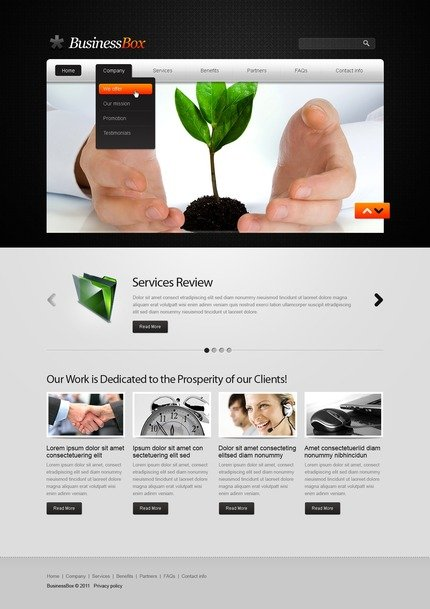 ADOBE Photoshop Template 56583 Home Page Screenshot