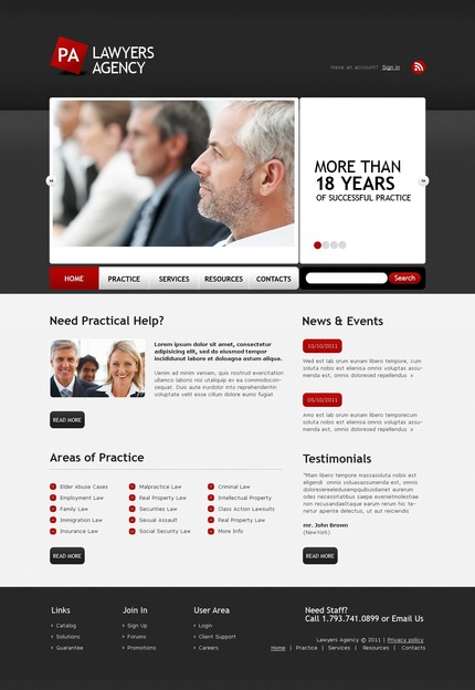ADOBE Photoshop Template 56584 Home Page Screenshot