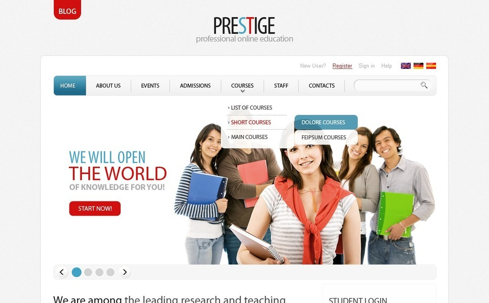 Szablon PSD #56594 na temat: edukacja New Screenshots BIG
