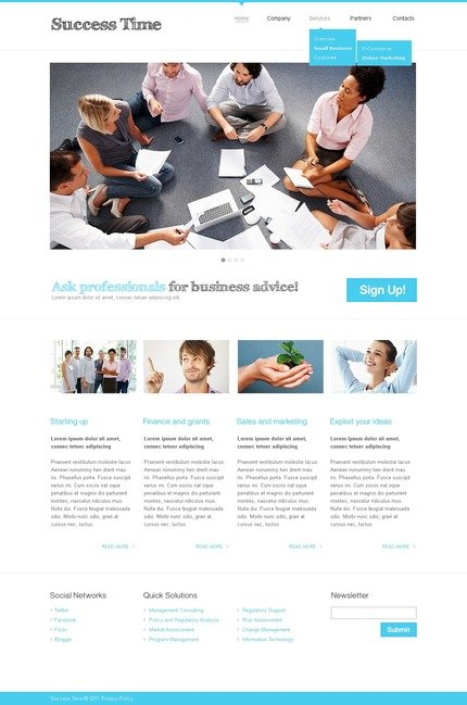ADOBE Photoshop Template 56595 Home Page Screenshot
